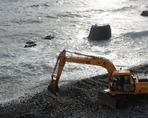 Mejoras en la playa de Las Aguas